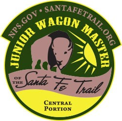 Green Junior Wagon Master Central Section Patch showing a buffalo