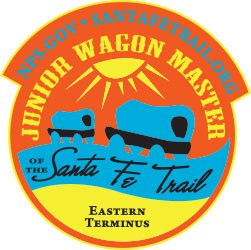 The Junior Wagon Master Eastern patch is orange and shows a wagon train