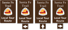 Local Route sign banner