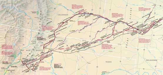 Image of Santa Fe National Historic Trail map