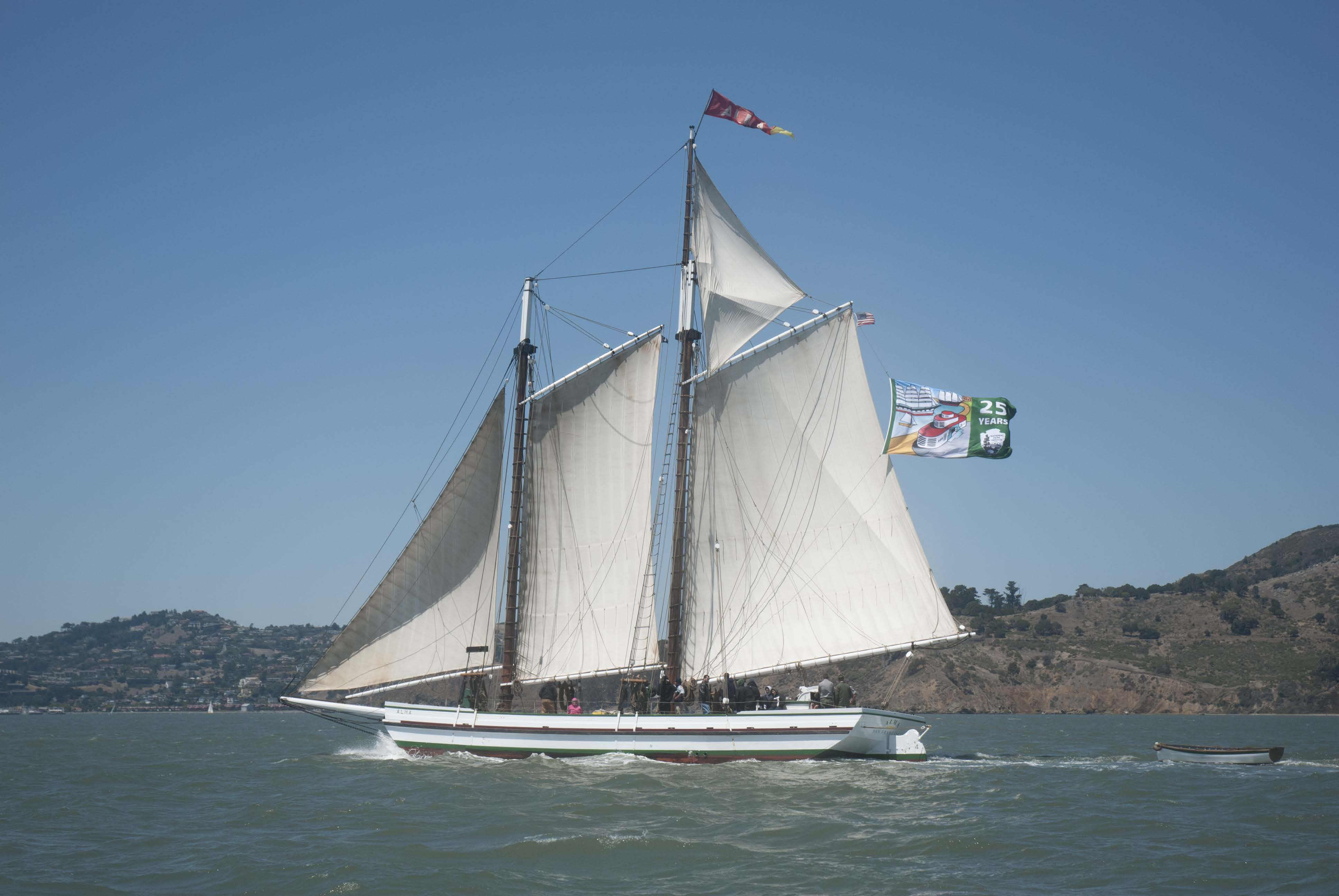 Alma Sailing by Angel Island