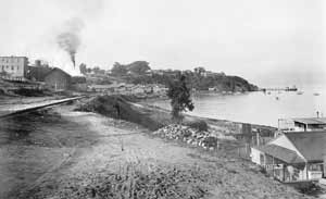 A black and white photo of Black Point taken circa 1910.