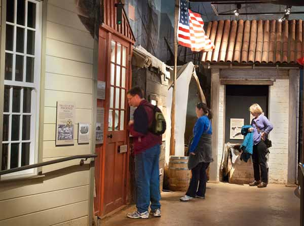 A section of THE WATERFRONT exhibit in the park visitor center.