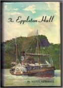 Color illustration of tugboat Eppleton Hall on the water with green hill behind