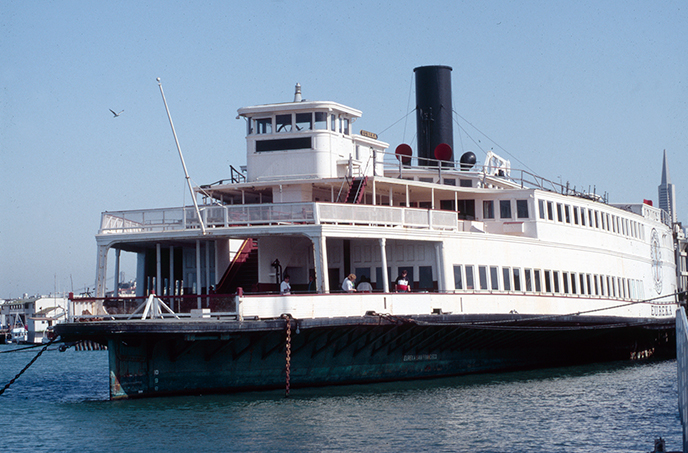 A 300-foot-long wooden ferryboat.