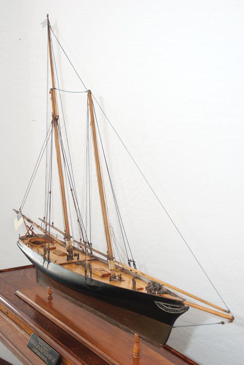 Scale model of the yacht AMERICA.