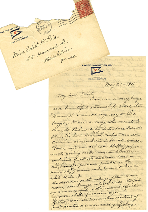 Letter from Mrs William Reid to Miss Edith W. Reid (SAFR 8342)