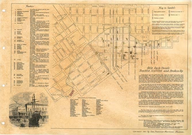An old map of downtown SF.