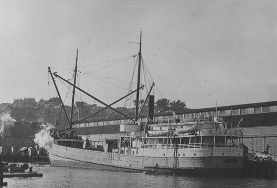 Steam schooner dockside in 1931.