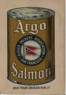 Argo Red Salmon Cook Book back cover (SAFR 20761a)