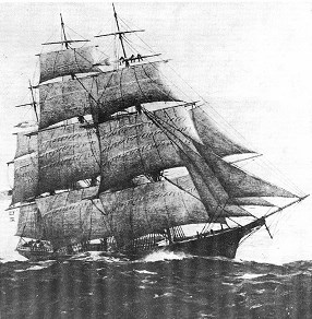 The Flying Cloud, a Gold Rush era clipper ship.