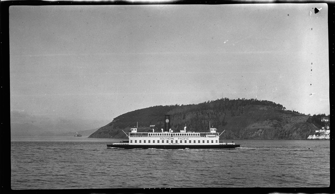 A ferryboat from the 1920s on San Francisco Bay.