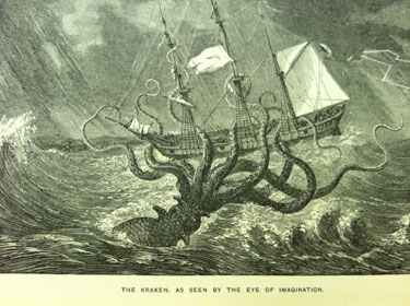 Kraken, from: Monsters of the sea, legendary and authentic.