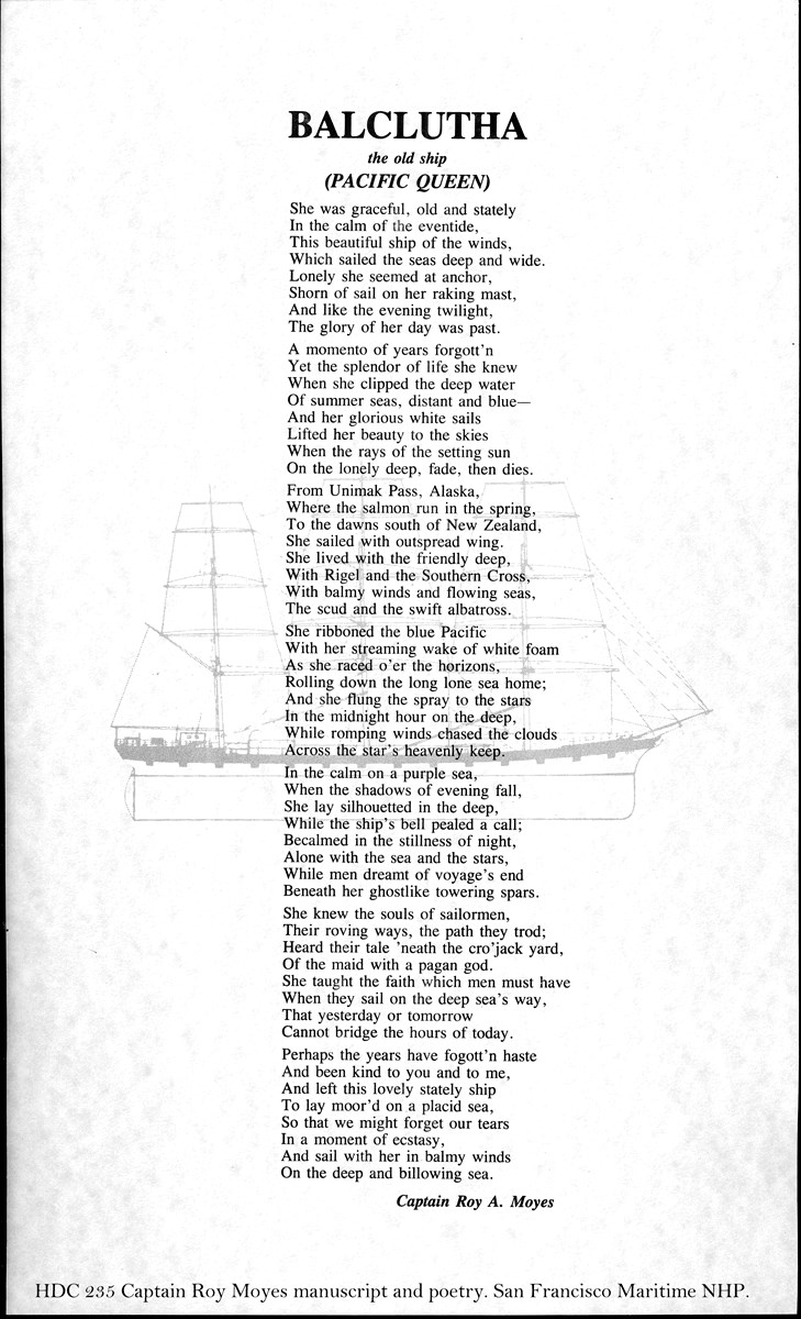Balclutha : the old ship (Pacific Queen)