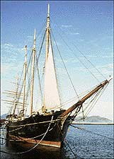 The 1895 lumber schooner, CA Thayer.