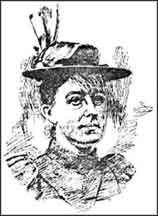 Sketch of Eliza Thorrold from the San Francisco Call, 1897. Collection: HDC 1113 Thorrold Family Papers, 1878-1945.