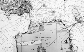 A nautical chart of SF Bay from 1983.