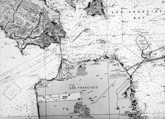A map of San Francisco Bay published in 1983.