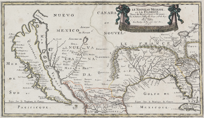 A 1656 map depicting California as an island.