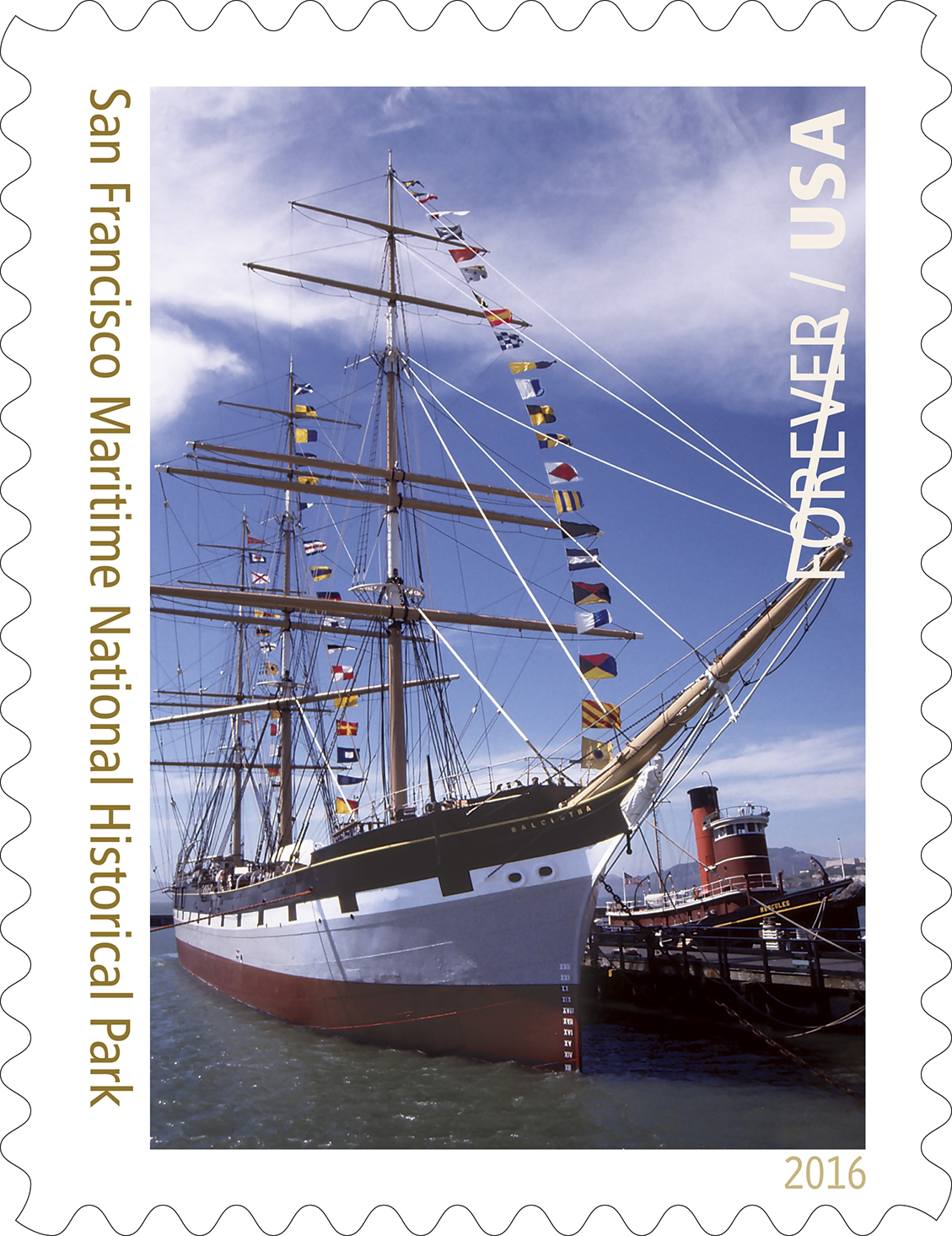 Stamp image: Balclutha, San Francisco Maritime National Historical Park