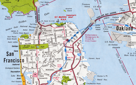 Maps San Francisco Maritime National Historical Park US – Map Of San Francisco Tourist Attractions