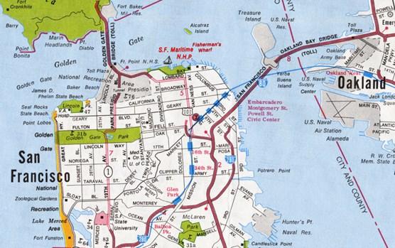 Street Map Of San Francisco Maps   San Francisco Maritime National Historical Park (U.S.  Street Map Of San Francisco