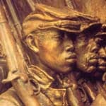 Detail of the Shaw Memorial