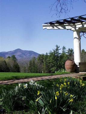 Mt. Ascutney in Vermont seen from the Pan Garden