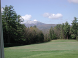 Mount Ascutney in Vermont, as seen from Saint-Gaudens' home.
