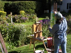 Artist in the Formal Garden