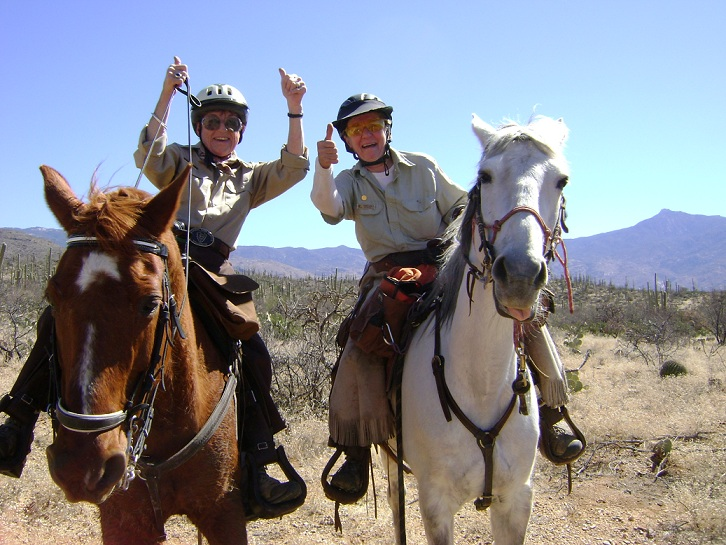 Volunteers on horseback