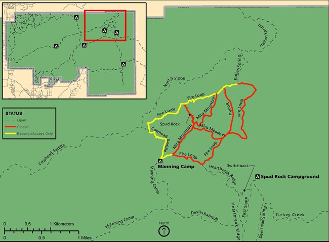 Planned Backcountry Closures During the 2019 Mica Prescribed Burn