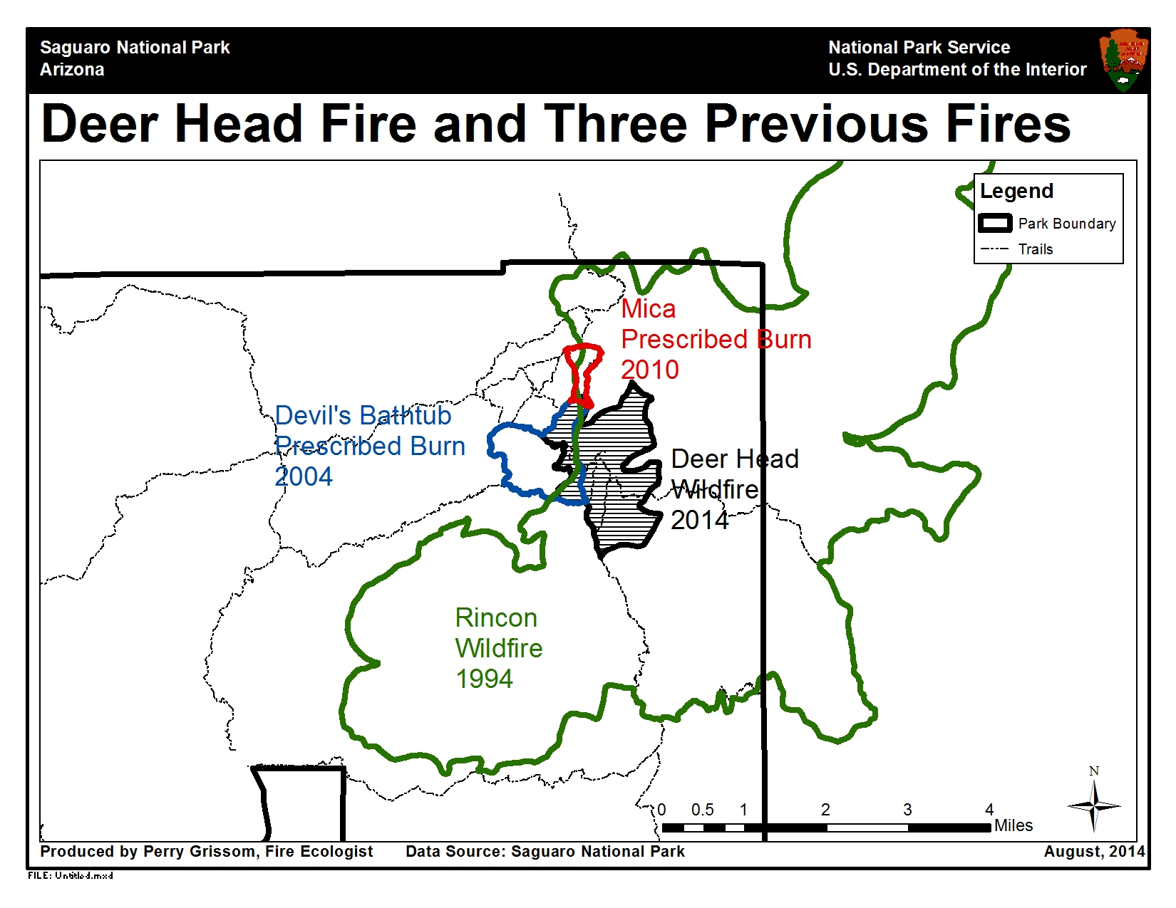 Deer Head Fire and Previous Burns