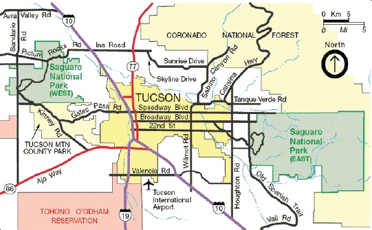 photograph relating to Printable Map of Tucson Az known as Recommendations toward the Park - Saguaro Nationwide Park (U.S.