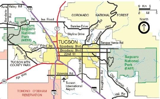 Directions Saguaro National Park U S National Park Service