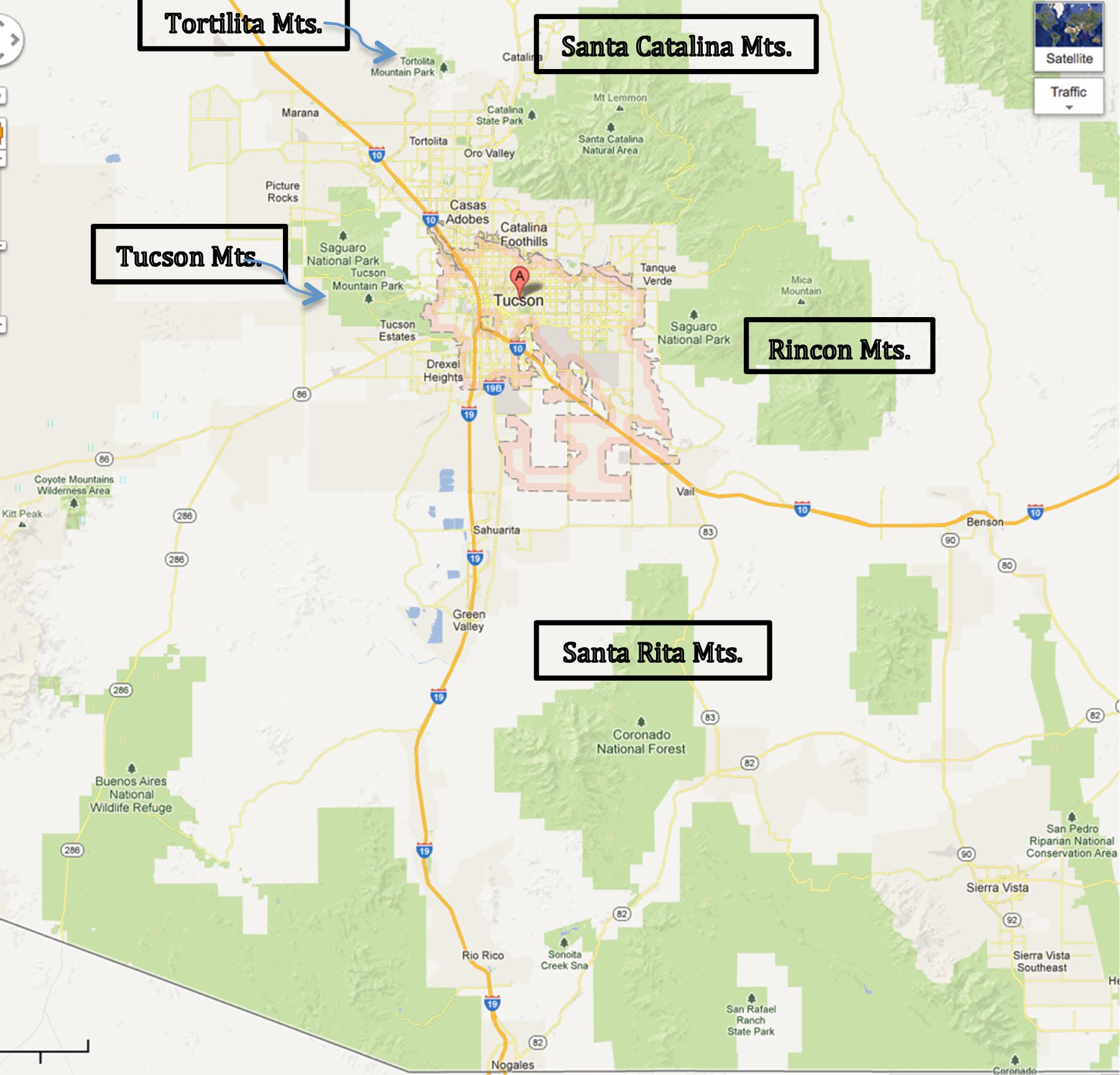 arizona mountain ranges map – bnhspine.com