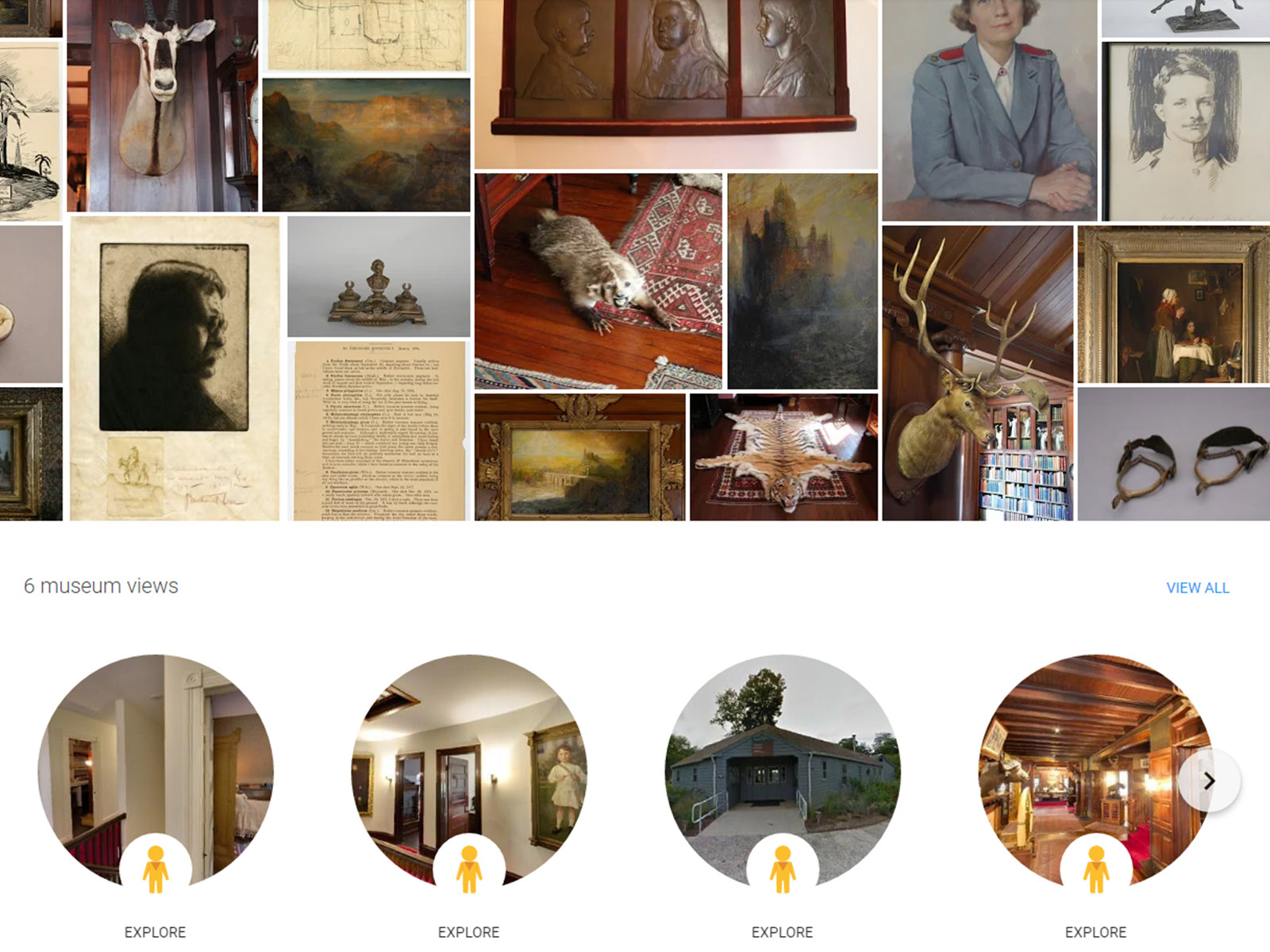 Sagamore Hill virtual tour and exhibits on Google Arts & Culture