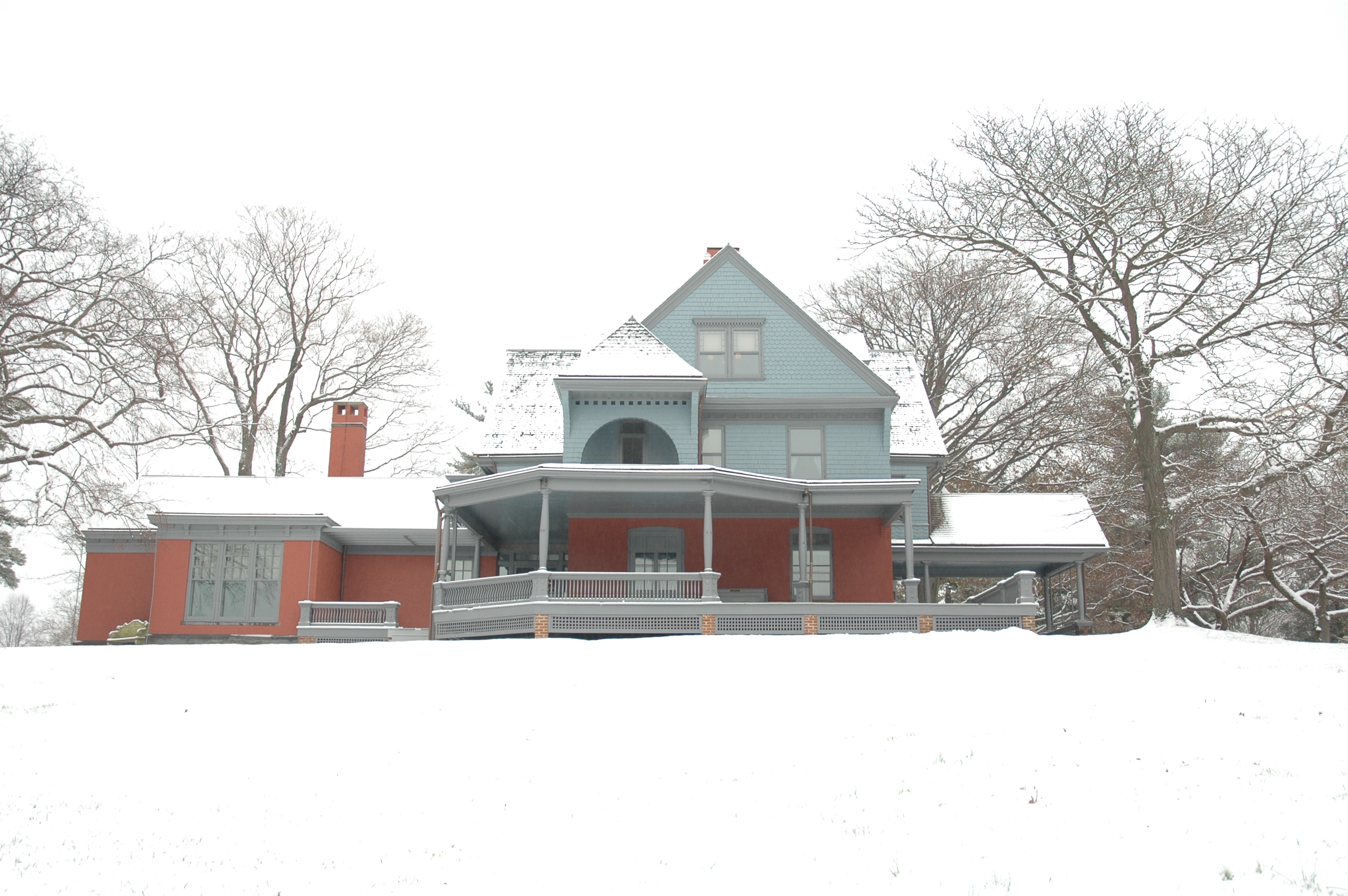 Theodore Roosevelt's Home after snow