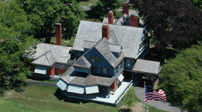 An aerial view of the Theodore Roosevelt Home.