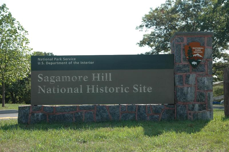 Sagamore Hill Welcome Sign