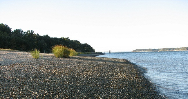 Sagamore Hill beach at Cold Spring Harbor
