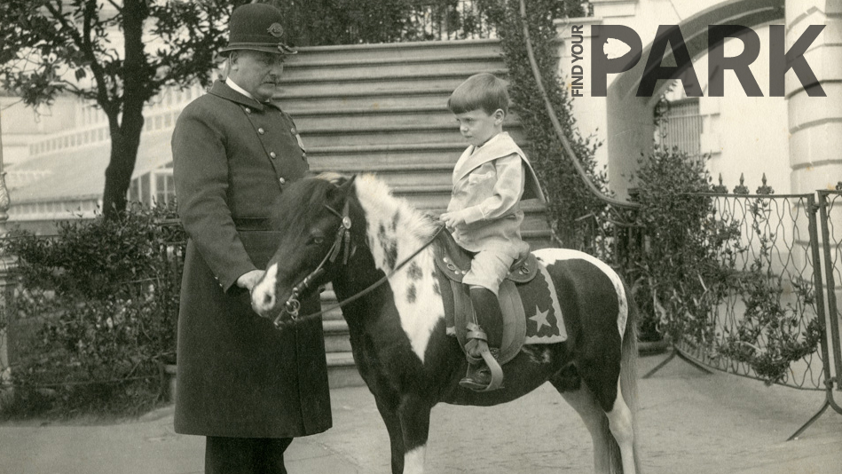 Archie Roosevelt on a pony at the White House.