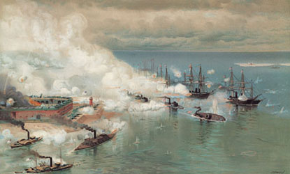 The Battle of Mobile Bay.