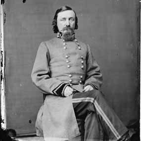 George Pickett posing in his new uniform