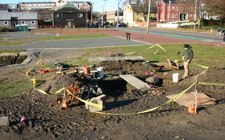 Derby Counting House excavation in progress