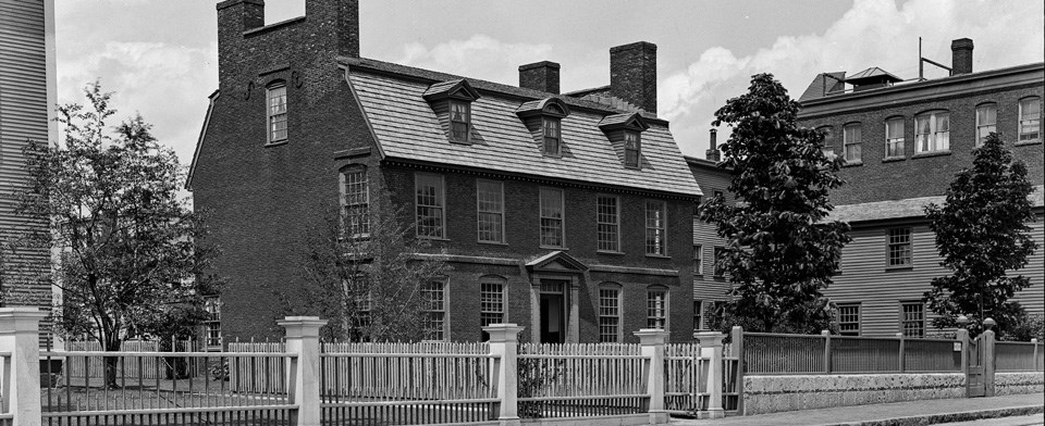 The Derby House, built in 1762, is one of the historic structures at Salem Maritime