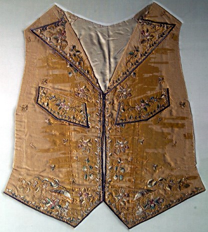 a brightly embroidered vest, or waistcoat.