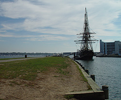 a view of Friendship docked at Derby Wharf