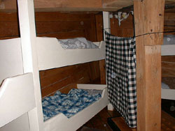the forecastle contained bunks for the sailors