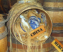 china was shipped in barrels packed with straw